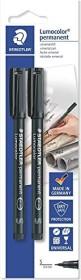 Staedtler Lumocolor 313 permanent schwarz, Blister 2er-Pack (313-9 BK2DA)