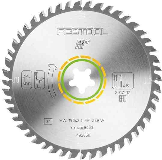 Festool FF W48 circular saw blade, 1-pack (492050)