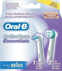 Braun Oral-B OrthoCare Essentials (EB-Ortho kit) accessories set 3-pack