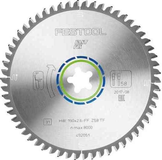 Festool FF TF58 circular saw blade, 1-pack (492051)