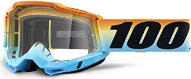 100% Strata Brille Kinder (verspiegelte Gläser) - Sonnenbrillen - Performance Orange - Mirror Blue Einheitsgröße 4aiFDFNX