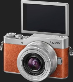 Panasonic Lumix DC-GX800 orange mit Objektiv Lumix G Vario 12-32mm 3.5-5.6 ASPH OIS (DC-GX800K-D)