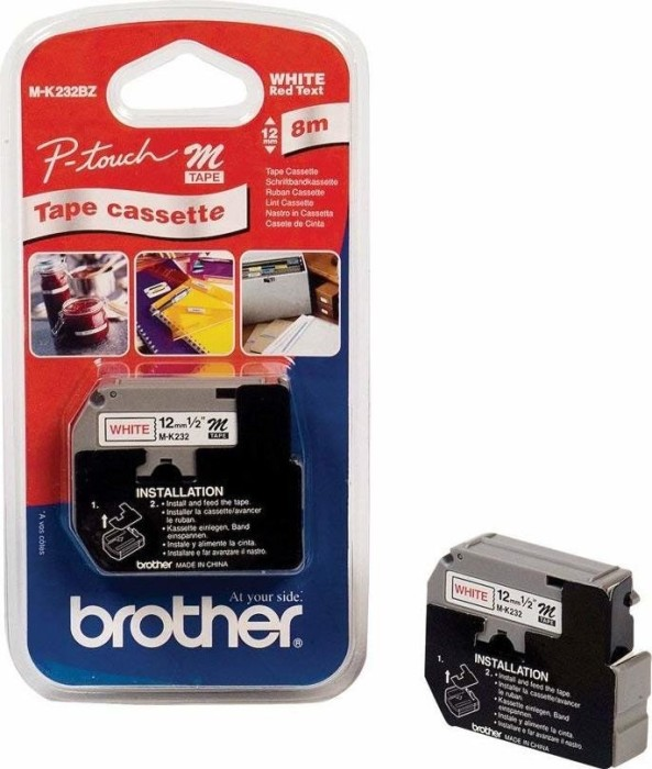 Brother MK-232 12mm czerwony/biały -- via Amazon Partnerprogramm