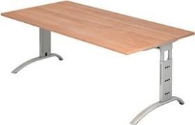 Hammerbacher Ergonomic Plus F-Serie FS2E/N, Nussbaum, Schreibtisch