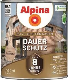 Alpina Farben Dauer-Schutz Holz-Lasur außen Holzschutzmittel sandstone, 750ml