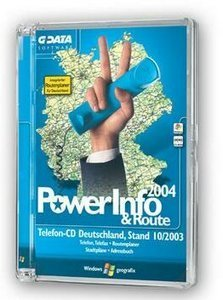 GData Software: PowerInfo & Route 2004/2 (PC)