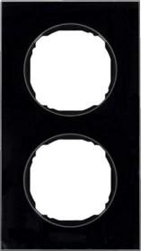Berker R.8 Rahmen 2fach, schwarz (10122616)