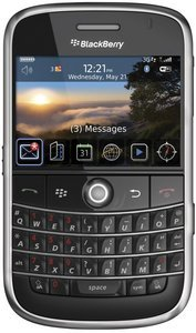 Blackberry Bold 9000 black -- The RIM and BlackBerry families of related marks, images and symbols are the exclusive properties of, and trademarks of, RIM – used by permission.