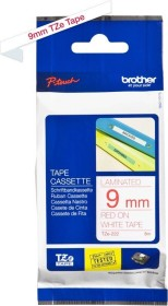 Brother TZe-222 label-making tape 9mm, red/white (TZE222)