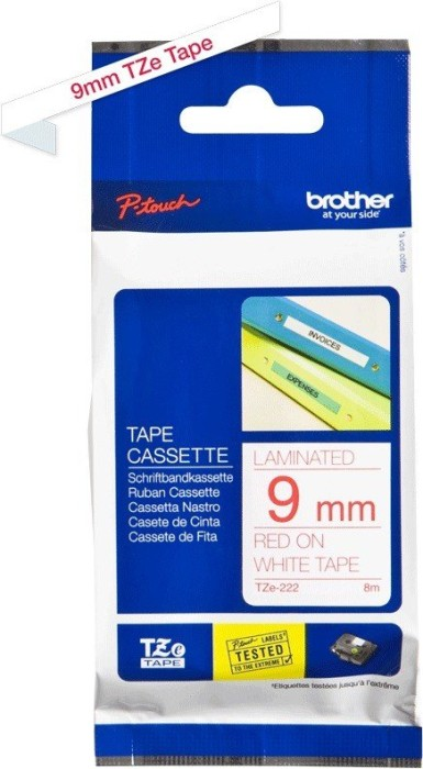 Brother TZ-222/TZe-222 9mm czerwony/biały -- via Amazon Partnerprogramm