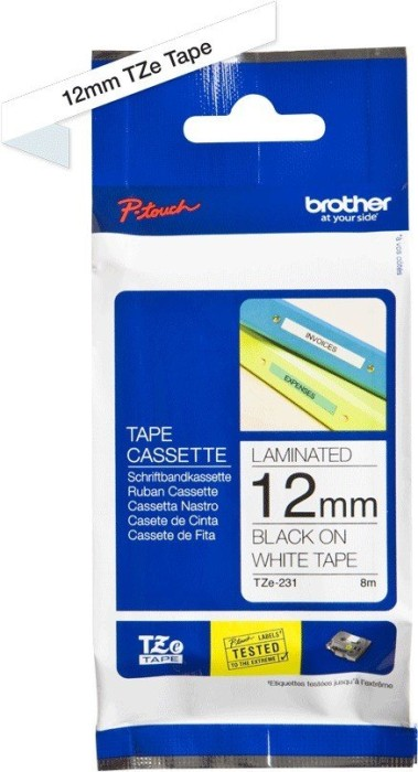 Brother TZ-231/TZe-231 12mm schwarz/weiß -- via Amazon Partnerprogramm
