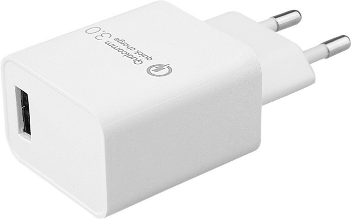 MLine Reiseladegerät Single Qualcomm Quick Charge 3.0 Universal weiß (ML0005)