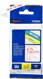Brother TZe-232 label-making tape 12mm, red/white (TZE232)
