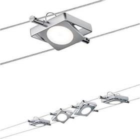 Paulmann MacLED rope system set LED Spot 4x 4W chrome matte, 5m (941.07)