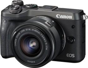 Canon EOS M6 schwarz mit Objektiv EF-M 15-45mm IS STM und 55-200mm IS STM (1724C032)