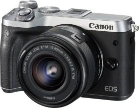 Canon EOS M6 silber mit Objektiv EF-M 15-45mm IS STM und 55-200mm IS STM (1725C032)