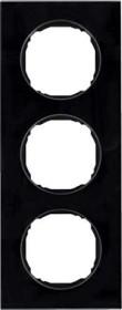 Berker R.8 Rahmen 3fach, schwarz (10132616)