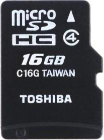 Toshiba High Speed Standard microSDHC 16GB Kit, Class 4 (SD-C16GJ)