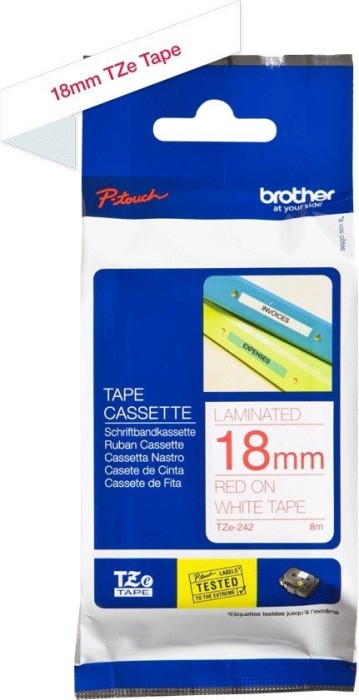 Brother TZ-242/TZe-242 18mm rot/weiß -- via Amazon Partnerprogramm