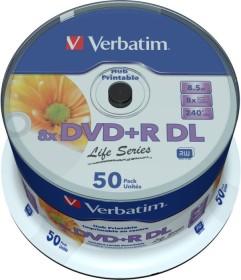Verbatim DVD+R 8.5GB DL 8x Life Series, 50er Spindel Inkjet printable, No ID (97693)