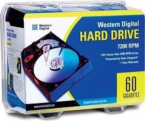 Western Digital WD EIDE Hard Drive kit 60GB, IDE (WD600BBRTL)