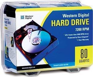 Western Digital WD Caviar 80GB retail, IDE (WD800BBRTL)