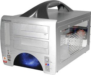 Thermaltake Lanbox silver with side panel window (VF1000SWA)