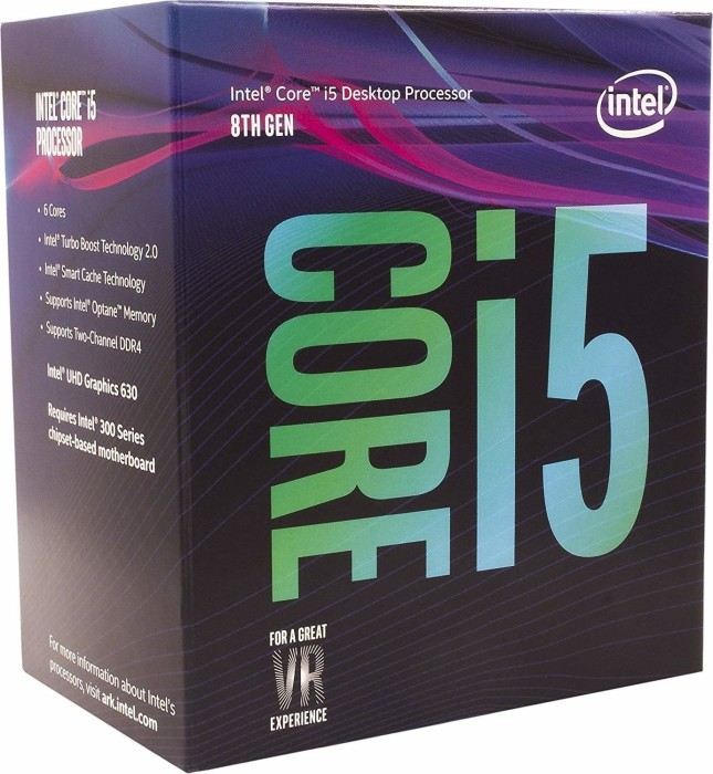 Intel Core i5-8400, 6x 2.80GHz, boxed (BX80684I58400)