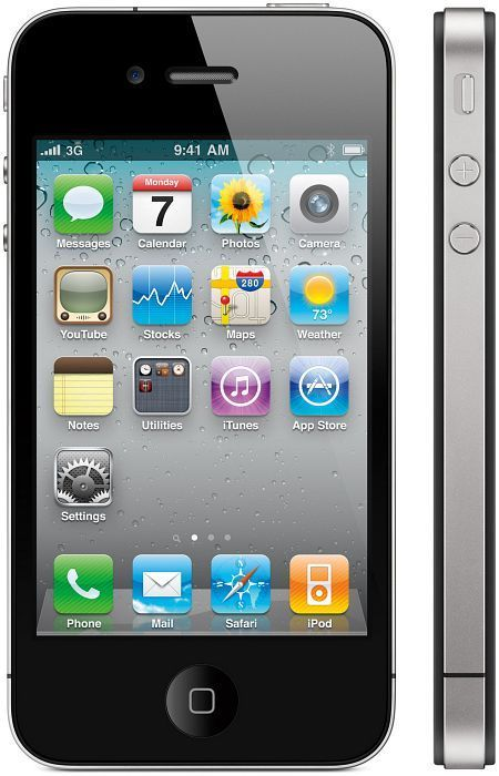 Apple iPhone 4 black 16GB with branding