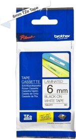 Brother TZe-211 label-making tape 6mm, black/white (TZE211)