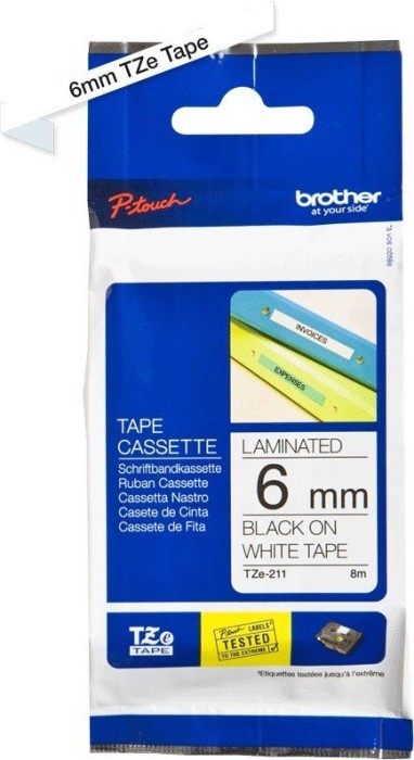 Brother TZ-211/TZe-211 6mm black/white -- via Amazon Partnerprogramm