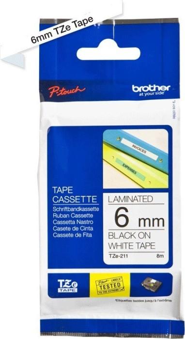 Brother TZ-211/TZe-211 6mm czarny/biały -- via Amazon Partnerprogramm