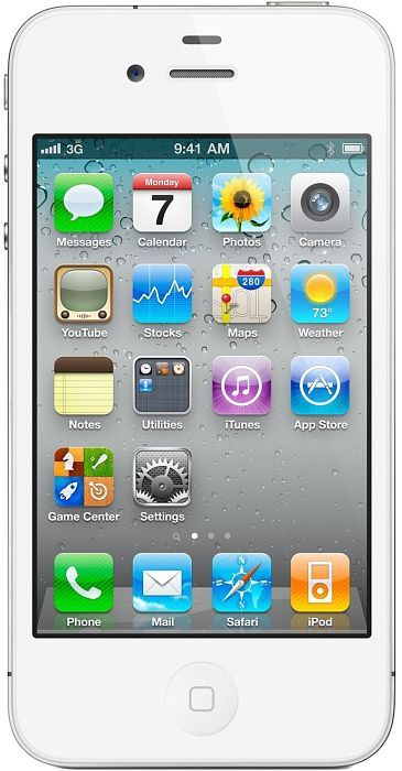 Apple iPhone 4 white 16GB with branding