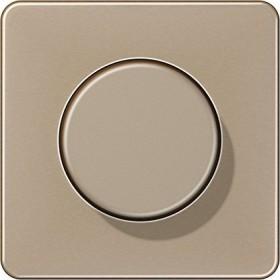 Jung Serie CD Abdeckung Metall, gold-bronze (CD 1540 GB)