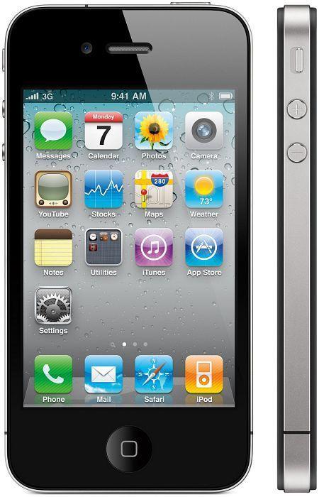 Apple iPhone 4 32GB schwarz mit Branding