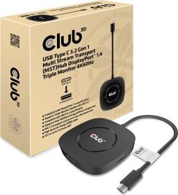 Club 3D Multi Stream Transport MST Hub, USB-C 3.0 on 3x DisplayPort 1.4 adapters (CSV-1550)