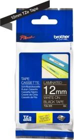 Brother TZe-335 12mm, weiß/schwarz (TZE335)