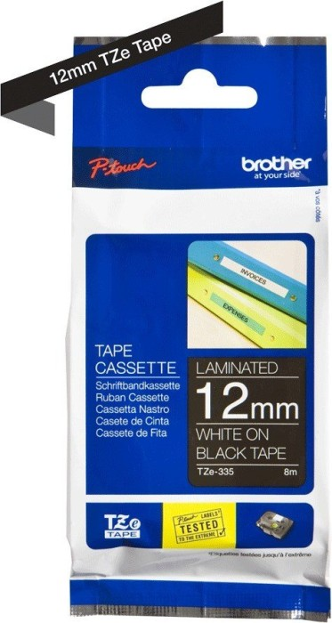 Brother TZ-335/TZe-335 12mm, weiß/schwarz -- via Amazon Partnerprogramm