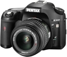 Pentax K200D schwarz mit Objektiv DA 18-55mm und DA 50-200mm (1954101/1954103)