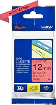 Brother TZ-431/TZe-431 12mm schwarz/rot -- via Amazon Partnerprogramm