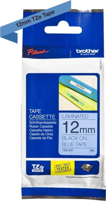 Brother TZ-531/TZe-531 12mm black/blue -- via Amazon Partnerprogramm