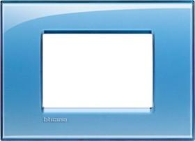 Bticino Livinglight Abdeckrahmen 1-fach, blau (LNA4803AD)