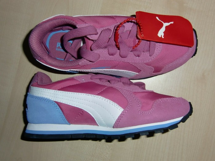 Puma ST Runner NL Jr, Unisex-Kinder Sneakers, Pink (Meadow Mauve-White-Marina Blue 07), 38 EU (5 Kinder UK)