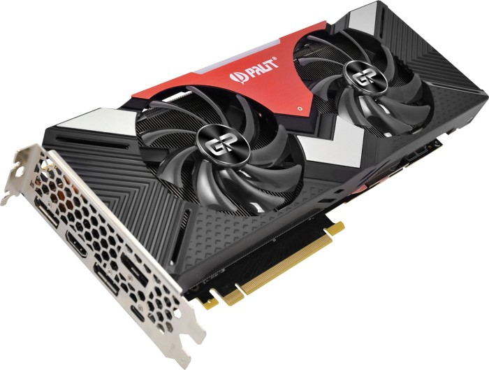 Palit GeForce RTX 2080 Dual, 8GB GDDR6, HDMI, 3x DP, USB-C (NE62080020P2-180A)