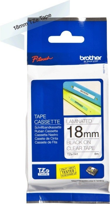 Brother TZ-141/TZe-141 18mm schwarz/transparent -- via Amazon Partnerprogramm