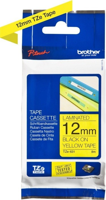 Brother TZ-631/TZe-631 12mm schwarz/gelb, 8m -- via Amazon Partnerprogramm