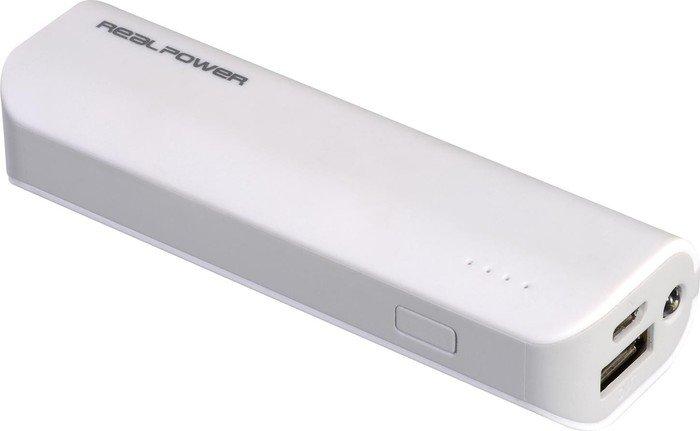 Ultron Powerbank RealPower PB-2600 weiß (149315)