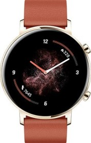 Huawei Watch GT 2 Classic 42mm gold mit Lederarmband chestnut red (55025399)