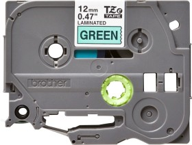 Brother TZe-731 labelling tape 12mm, black/green (TZE731)