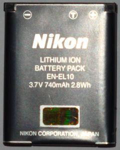 Nikon EN-EL10 Li-Ionen-Akku (VFB10101) -- © bepixelung.org